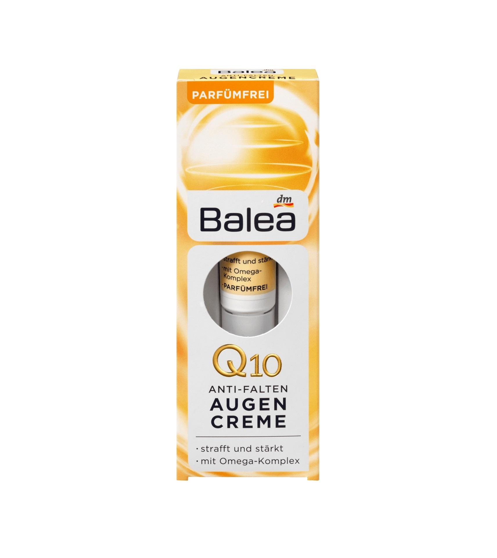Balea Q10 Crème anti-rides pour les yeux, 15 ml - Perla..